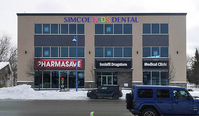 Front of the building for Simcoe Kids Dental